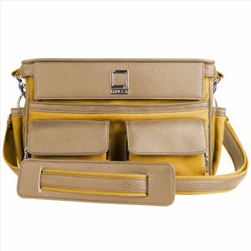 Lencca Coreen SLR Camera Bag, Color Mustard Yellow & Cool Camel