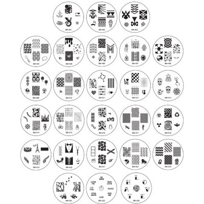 Bundle Monster 26pc Nail Art Image Manicure Stamping Plates-2013 CYO Collection