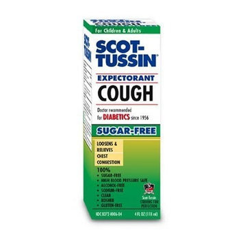 Scot-Tussin Cough Expectorant, Sugar- Free, 4 Ounces