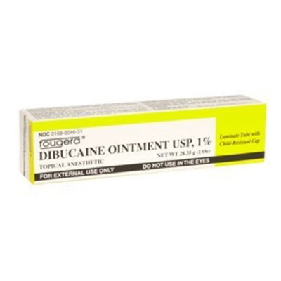 Fougera Special pack of 6 DIBUCAINE 1% OINTMENT 1 oz