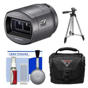 Panasonic VW-CLT2 3D Camcorder Conversion Lens with Case + Tripod + Kit for HC-V700, X800, X900, X910, X920