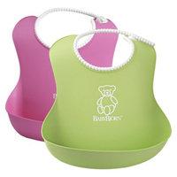 BABYBJORN BABYBJÖRN 2pk Soft Bib Set - Green/Pink