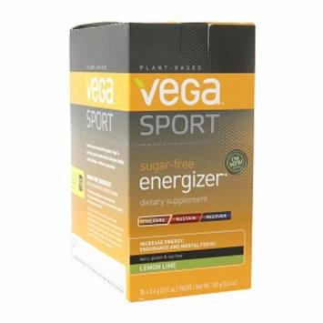 Vega Sport Sugar-Free Energizer Lemon Lime - 30 Packs