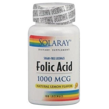 Solaray  Folic Acid - 100 - Chewable