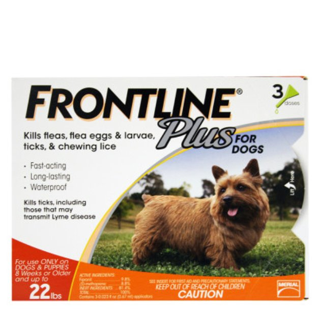 Frontline Plus 3-Pack Flea & Tick Dog Treatment