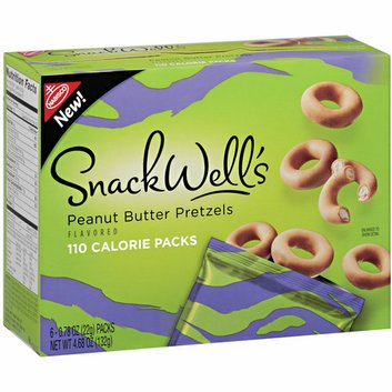 Nabisco SnackWell's Peanut Butter Flavored Pretzels