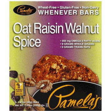Pamela's Oat Raisin Walnut Spice Whenever Bars, 7.05 oz, (Pack of 6)