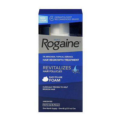 Rogaine for Men Hair Regrowth Treatment Foam 2.11oz