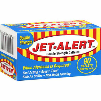 Bell Pharmaceuticals : Double Strength Caffeine 200 Mg Caplets Jet-Alert