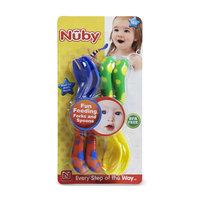 Nuby Infant's 4 Piece Easy Grip Fork & Spoon Starter Set - LUV N' CARE, LTD.