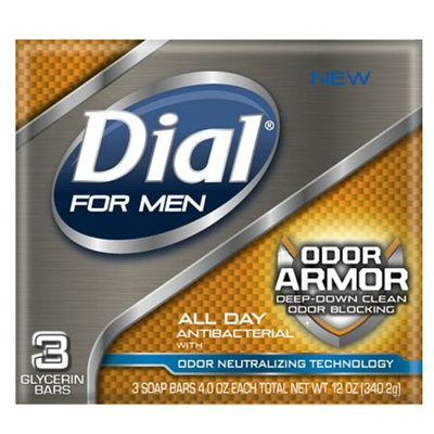 Dial for Men Antibacterial Soap Bars, 4oz Bars Odor Armor