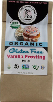 Wholesome Chow Organic Gluten Free Frosting Mix Vanilla 7.2 oz - Vegan