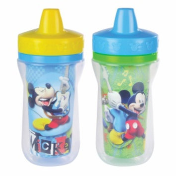 The First Years Disney Mickey Mouse Insulated Sippy Cup with One Piece Lid, 2 ea