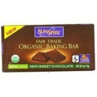 SunSpire Organic Baking Bar Semi-Sweet -- 4 oz