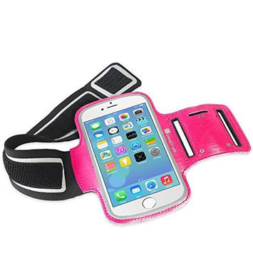 GreatShield Stretchable Neoprene Sport Armband with Hidden Pocket for Apple iPhone 6 (4.7