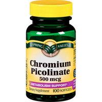 Spring Valley : General Health Chromium Picolinate 500 Mcg Chromium