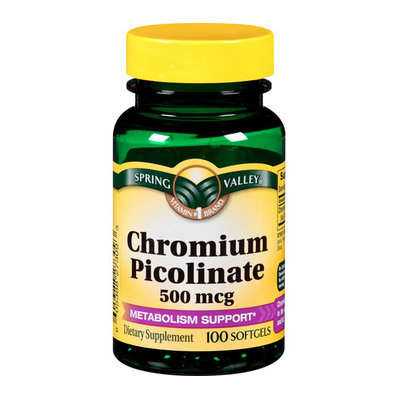 Spring Valley : General Health Chromium Picolinate 500 Mcg Chromium