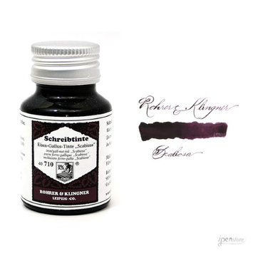 Rohrer & Klingner 50 ml Bottle Fountain Pen Ink, Iron Gall Nut-Ink, Scabiosa