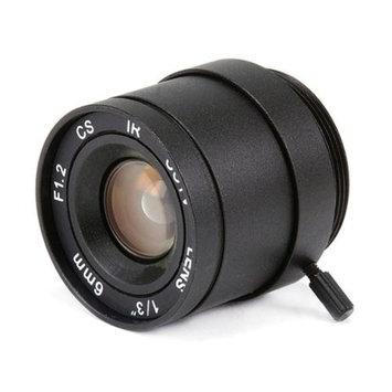Monoprice 1/3 Inch 6mm IR F1.2 Fixed Iris CS Mount Lens W/IR Correction