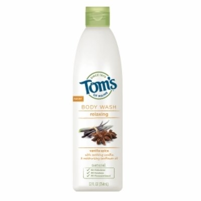Tom's of Maine Relaxing Body Wash, Vanilla Spice, 12 fl oz