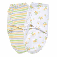 Summer Infant Swaddleme Cotton Knit, Small, Bumble Bee Stripe, 2 ea