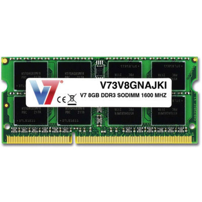 V7 8GB DDR3 1600MHz PC3-12800 SO-DIMM Notebook Memory