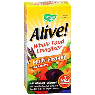 Nature's Way Alive! Whole Food Energizer Multi-Vitamin Dietary Supplement Tablets