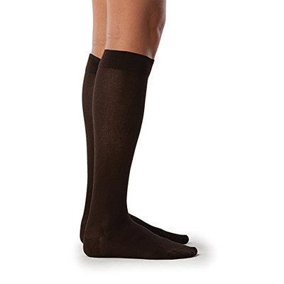 Sigvaris Sea Island Cotton 222CSLW99 20-30 mmHg Womens Closed Toe Socks Black - Small Long