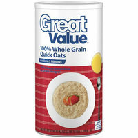 Great Value : Oven-Toasted Quick Oats