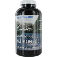 Carlson Labs Norwegian Salmon Oil, 1000mg, 180 Softgels