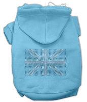 Mirage Pet Products 5416 XXLBBL British Flag Hoodies Baby Blue XXL 18