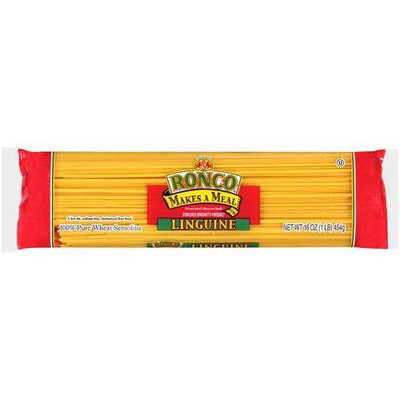Ronco: Linguine Enriched Spaghetti Product Pasta, 16 Oz