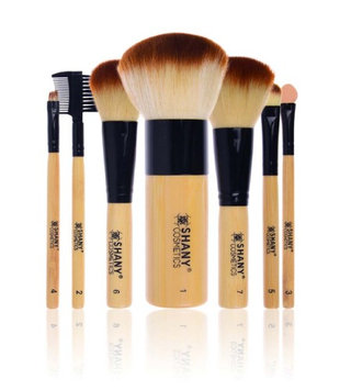 Shany Cosmetics Shany Vegan Bamboo Brush Set with Bamboo Handles