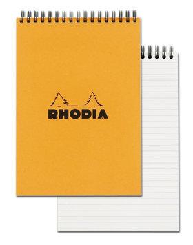 Rhodia Orange Top Wirebound Notepad 6
