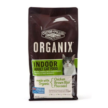 Castor & Pollux Organix Indoor Adult Dry Cat Food, 5.25 Pound Bag ( Chicken Brown Rice Flaxseed )
