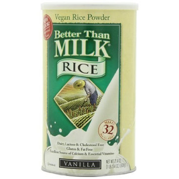 Better Than Milk Vegan Beverage Mix, Rice, Vanilla, 21.4-Ounce Canisters (Pack of 2)