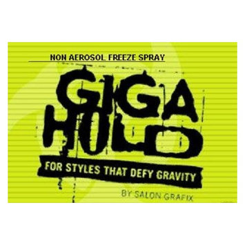 SALON GRAFIX PROFESSIONAL GIGA HOLD FREEZE NON-AEROSOL HAIR SPRAY 8 Oz (2 PACK)