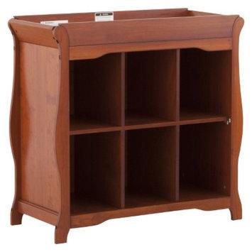 Stork Craft 6 Cube Organizer/Changing Table - Cognac