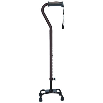 Hugo Adjustable Quad Cane For Right or Left Hand Use