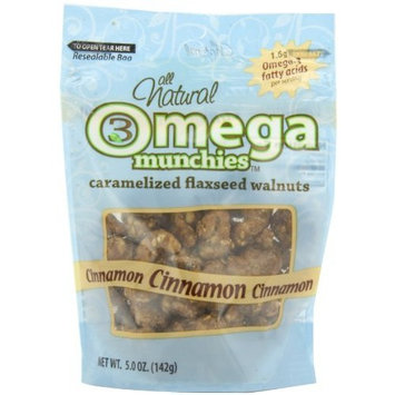 Good Sense Omega Munchies, Caramelized Flaxseed Walnuts, Cinnamon, 5-Ounce Bags (Pack of 6)