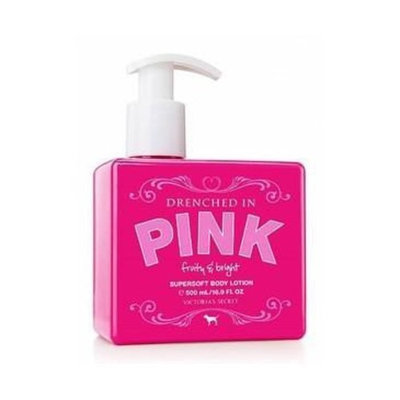 Victoria's Secret Drenched In Pink FRUITY & BRIGHT Supersoft Body Lotion 16.9 FL OZ