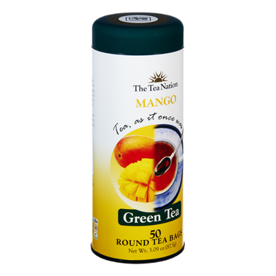 The Tea Nation Mango Green Tea Round Bags - 50 CT