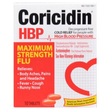 Coricidin Hbp Coricidin HBP Flu Tablets Maximum Strength - 10ct