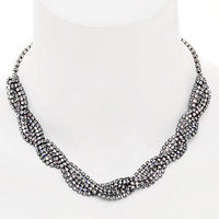 Elizabeth Cole Jewelry Braided Crystal Necklace