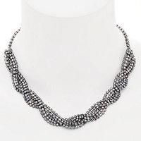 Elizabeth Cole Jewelry Braided Crystal Necklace