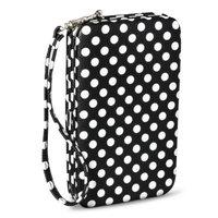 Polka Dot Cell Phone Wallet - Black