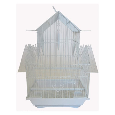 Yml Group YML Pagoda Flat Bird Cage White