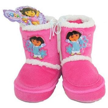 Naturally Fresh DORA THE EXPLORER TODDLER GIRL BOOTS SLIPPERS SIZE 5 SNOWFLAKE