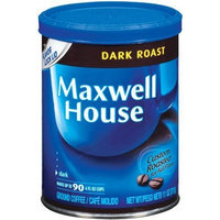 Maxwell House Dark Roast Ground Coffee, 11-Ounce Cannister (Pack of 3)