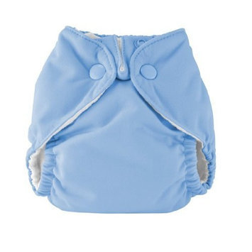 Kissa's Neutral Inside Neutral Inside All-In-One Diaper, Lagoon Blue, New Born (Discontinued by Manufacturer)